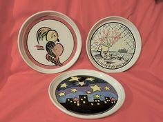 (3) Rare BENNINGTON POTTERS Mid Century Abstract Plates – DAVID GIL – Pop Art - | eBay Bennington Pottery, Pop Art, Decorative Plates, Mid Century, David, Abstract, Ebay, Summary, Art Pop