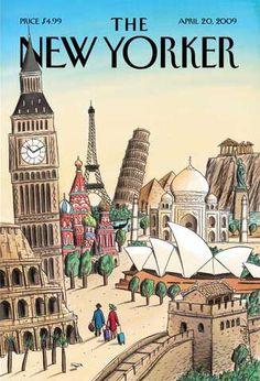 The New Yorker, April 20, 2009. Cover Illustration by Jacques de Loustal