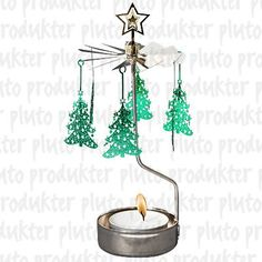 Christmas Tree Rotary Candleholder >>> For more information, visit image link. Christmas Tree Candle Holder, Christmas Candles, Christmas Holidays, Christmas Decorations, Christmas Trees, Green Christmas, Christmas Stuff, Star Lanterns, Tealight Candle Holders