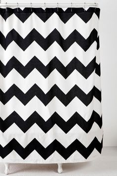black white chevron shower curtain. Zigzag Shower Curtain  UrbanOutfitters for our new black and white with teal accents bathroom Details about Silver Black shower curtain Gray shimmer