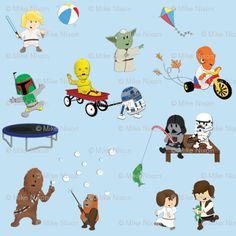 @Anastasia Ehlers this made me think of you..... I think Bobba Fett is my favorite :)     Star Wars fabric for quilt