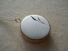 Sterling Silver necklace with  bamboo leaf cut by johnathandesignz, $78.00
