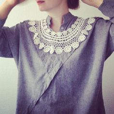 Lace collar    Photos by elisabethdunker on Instagram