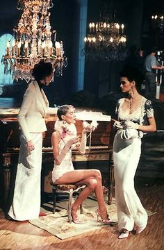1998 - Galliano 4 Dior - Karen Elson, Olga & Trish Goff