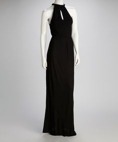Take a look at this Black Halter Maxi Dress by Costa Blanca on #zulily today!