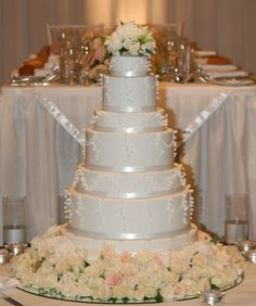 Wedding Cake.  Design inspired from Peggy Porschen.