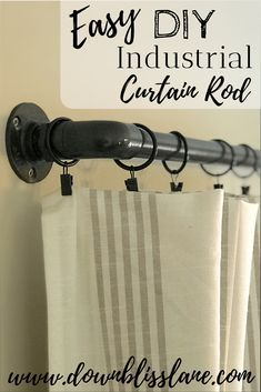 Diy curtains 545850417337567426 - DIY Industrial Curtain Rod Using PVC Pipe Source by gretchenmccurdy Outdoor Curtain Rods, Pipe Curtain Rods, Industrial Home Design, Industrial House, Decor Industrial, Industrial Table, Industrial Furniture, Vintage Industrial, Modern Furniture