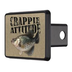 Crappie Attitude Funny Fishing Hitch Cover #hitch #truck #crappie #boating #fishing Crappie Fishing Tips, Bass Fishing, Trick Pictures, Fishing Outfits, Fishing Humor, Small Cars, Attitude, Funny, Cover