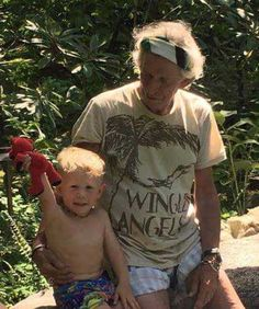 look to this living legend and his adorable grandson. | The official Rolling Stones app