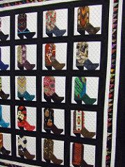 cowboy boot quilt seen at Arizona quilt show | by Joyce in the CactusPatch