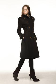 New Design Black Big Lapel Cashmere Coat Double by Sophiaclothing, $179.99