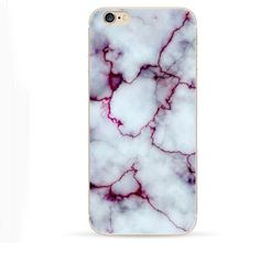 Purple White Marble Case for Iphone 6 Plus 6S