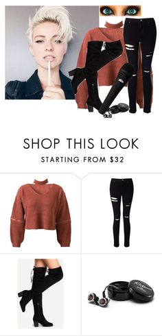 """tori"" by heavydirtysoul-anons ❤ liked on Polyvore featuring WithChic, Miss Selfridge and Astell & Kern"
