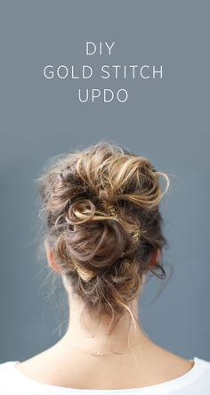 DIY+Gold+Stitch+Updo
