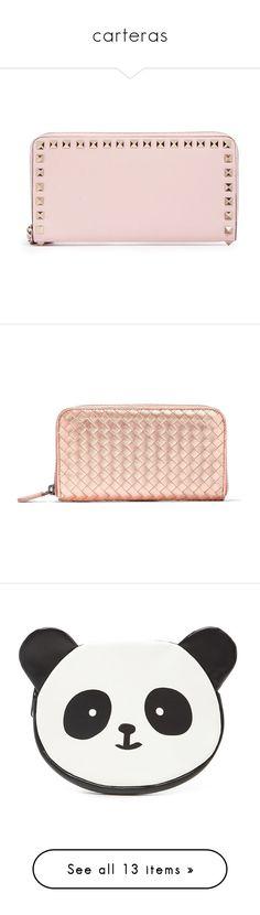 """""""carteras"""" by selenaaaaaaaaaaaa8 ❤ liked on Polyvore featuring bags, wallets, pink, leather wallets, real leather bags, zip around wallet, pink wallet, pink zip around wallet, wallet and clutches"""