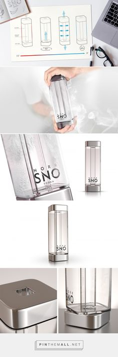 Twist it for ice cold drink! Norr Sno packaging design concept by OPUS B - http://www.packagingoftheworld.com/2018/01/norr-sno.html