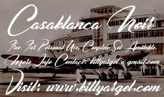 New free font 'Casablanca Noir Personal Use' by Billy Argel · Free for personal use ·