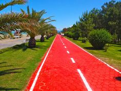 Follow the red brick road....