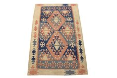 Hand Woven Turkish Oriental Kilim Rug by kilimwarehouse on Etsy, $240.00