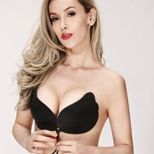 9807783b73 Sexy woman Push Up bra Self-Adhesive Silicone pad cup bra Bust Strapless  Invisible bra Women Silicone Strapless Bra breast petal