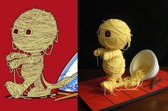 Ramen ses Return by Jessica Allard | Community Post: 8 Unbelievable 3D Cakes Inspired By Threadless T-Shirt Designs