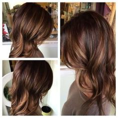 A warm brunette with #honey and #caramel #dimension by janice