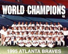 Atlanta braves 1995 | Braves 1995 World Series Champs Team 8X10 Photo :: Atlanta Braves ...