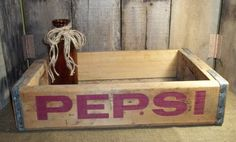 1960's Pepsi Crate  Pepsi Cola Shipping Crate Old Wood