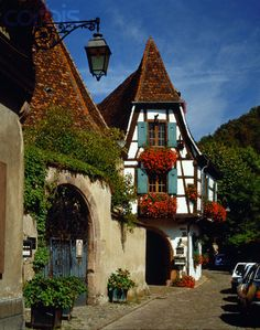 Kaysersberg building, Alsace, France,