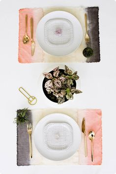 DIY Dip Dye Placemats - A DesignLoveFest Tutorial with Dharma Fiber Reactive Dyes
