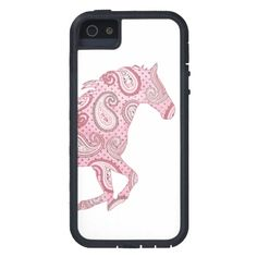 Pretty Pink Paisley Horse iPhone 5 Cases