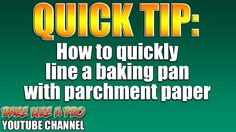 How To Line A Baking Tray With Parchment Paper