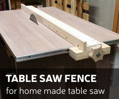 This time I'll make a table saw fence for my homemade table saw. How I did it - you can check by looking DIY video or you can follow up instructions bellow. ...