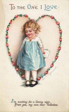 Valentine Images, Vintage Valentine Cards, My Funny Valentine, Valentine Day Love, Vintage Greeting Cards, Valentine Day Cards, Vintage Postcards, Decoupage, Vintage Illustration