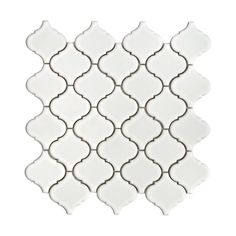 "SomerTile FKOLB10 Beacon White 12 1/2"" x 12 1/2"" Porcelain Floor & Wall Tile - ATG Stores"