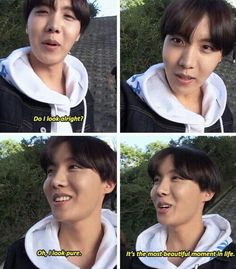 Pure J-Hope is the most beautiful moment in life.