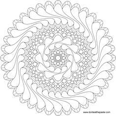Flowing Mandala Coloring Page By Shala Kerrigan - (donteatthepaste)