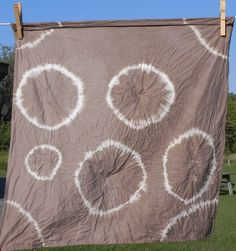 Black Walnut hulls used to dye this fabric in Donna Kallner's Natural Color class at Sievers.