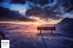 A winter bench at sunset Quebec, Clouds, Celestial, Sunset, Outdoor, Beautiful Sunset, Winter, Photography, City