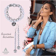 Náramok a náušnice so syntetickými perličkami #luxusnabizuteria #bizuteria #antialergickabizuteria #nausnice #naramok #syntetickeperly Outfit, Shopping, Outfits, Kleding, Clothes
