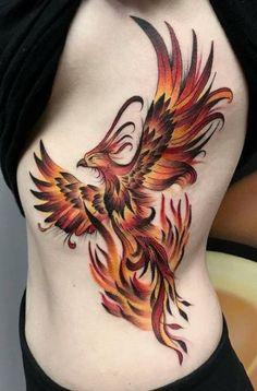 Rising Phoenix Tattoo, Phoenix Bird Tattoos, Phoenix Tattoo Design, Phoenix Tattoo Girl, Phoenix Tattoo Sleeve, Bild Tattoos, Neue Tattoos, Body Art Tattoos, Sleeve Tattoos