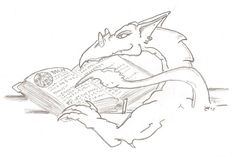 The old Wyvern likes to read!