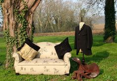 Sofa - Antique French Sofa by Vintage 57 in Mulberry Home Kennel Club Natural Linen Upholstery Courses, Mulberry Home, French Sofa, Antique Sofa, Natural Linen, Outdoor Furniture, Outdoor Decor, Linen Fabric, French Antiques