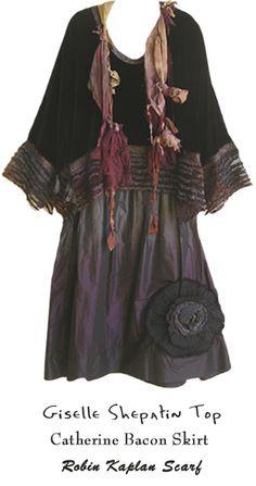 Giselle Shepatin top, Catherine Bacon skirt, Robin Kaplan scarf