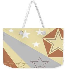 Weekender Tote Bag of 'Texas Stars 5' by Sumi e Master Linda Velasquez.
