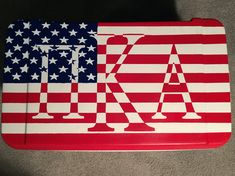 American flag Pi Kappa Alpha fraternity cooler