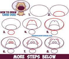 How to Draw Dug (Cute / Kawaii / Chibi) from Up - The Dog from Up in Easy Step by Step Drawing Tutorial