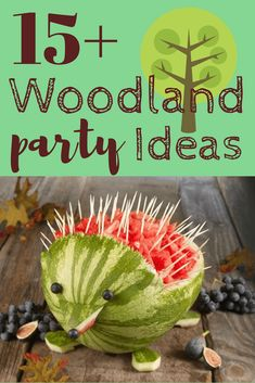 Popular woodland forest animals baby shower ideas - or any woodland-themed party!
