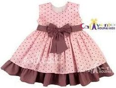 Resultado de imagen para vestido de festa infantil 1 ano rosa