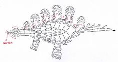 Crochet Dinosaur and Dragon Applique Patterns Basic Crochet Stitches, Crochet Diagram, Crochet Chart, Crochet Basics, Thread Crochet, Crochet Motif, Crochet Designs, Boy Crochet, Crochet Dinosaur Patterns